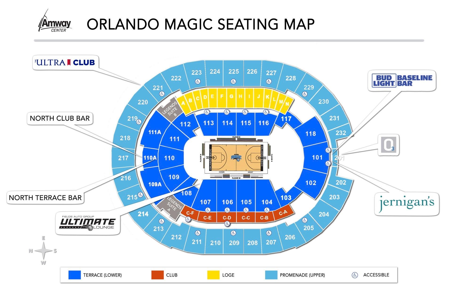 Orlando Magic Seating Map