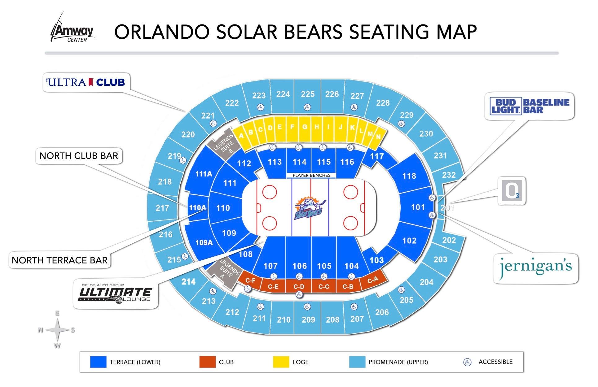 Orlando Solar Bear Seating Map