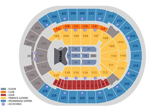 Amway Center Map Seating Maps | Amway Center