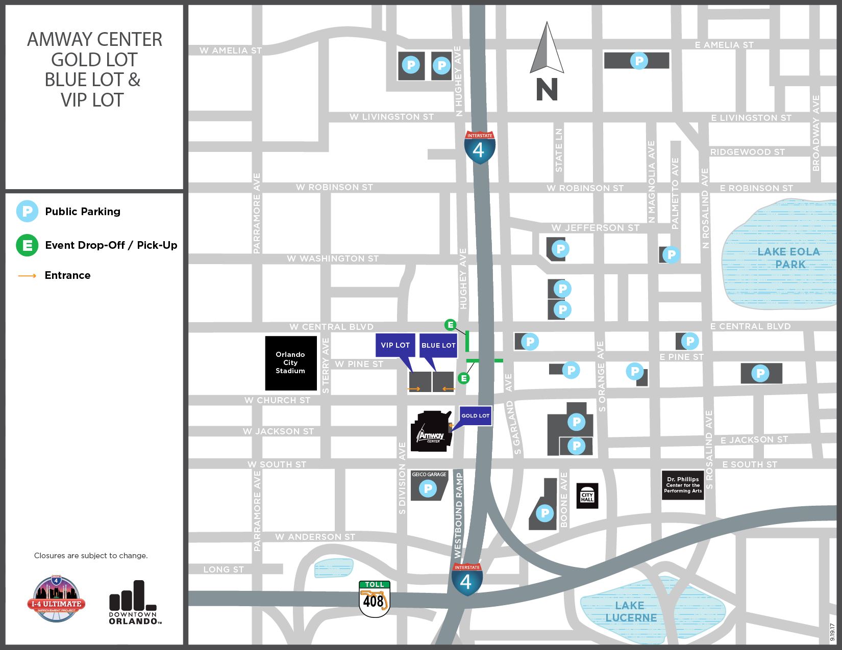 Amway Center Map Amway Center Parking | Amway Center