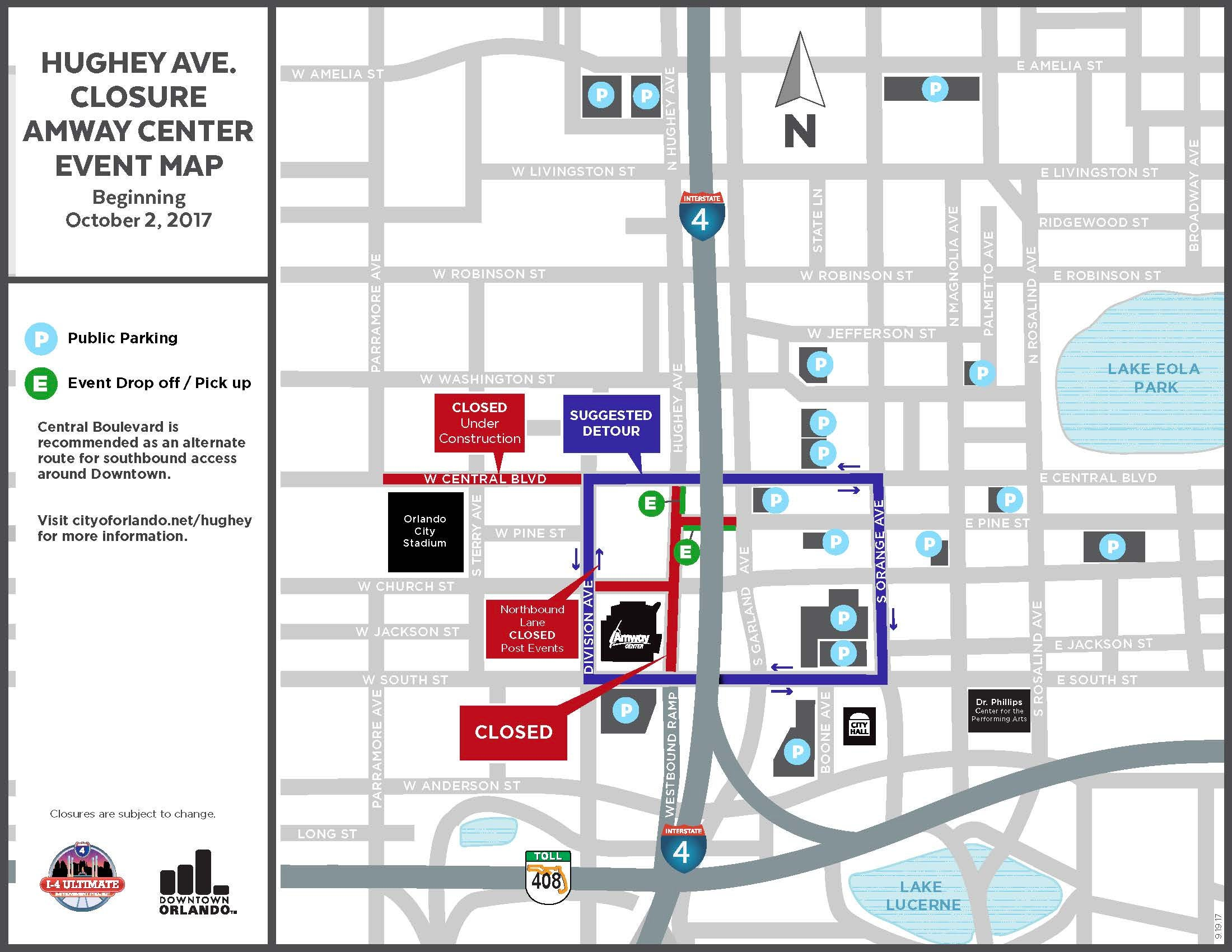 parking u0026 directions amway center